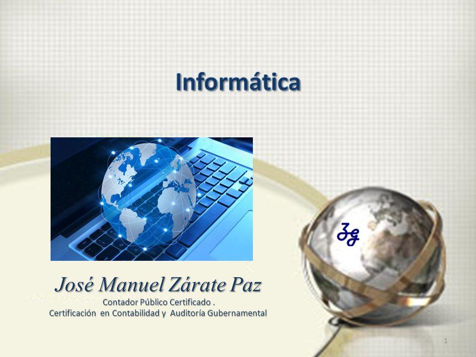 1 José Manuel Zárate Paz Contador Público Certificado.