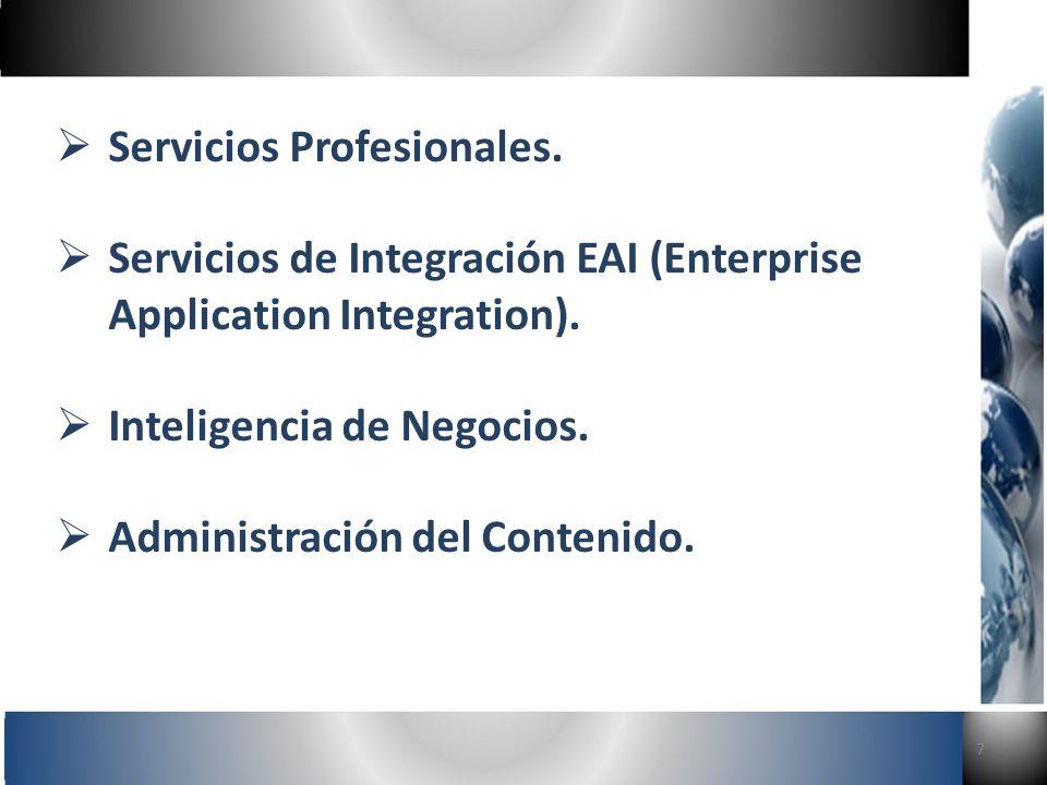 7 Servicios Profesionales. Servicios de Integración EAI (Enterprise Application Integration).