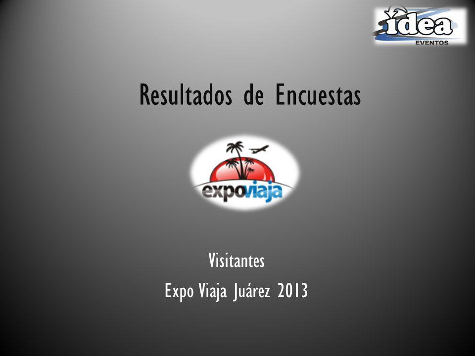 Resultados de Encuestas Visitantes Expo Viaja Juárez 2013