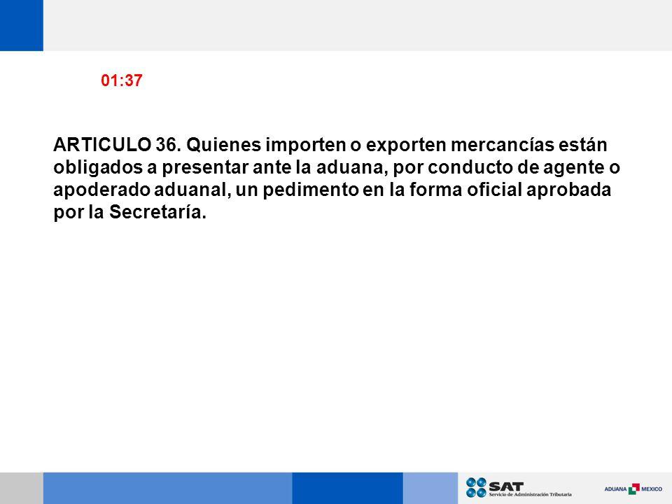 ARTICULO 36.