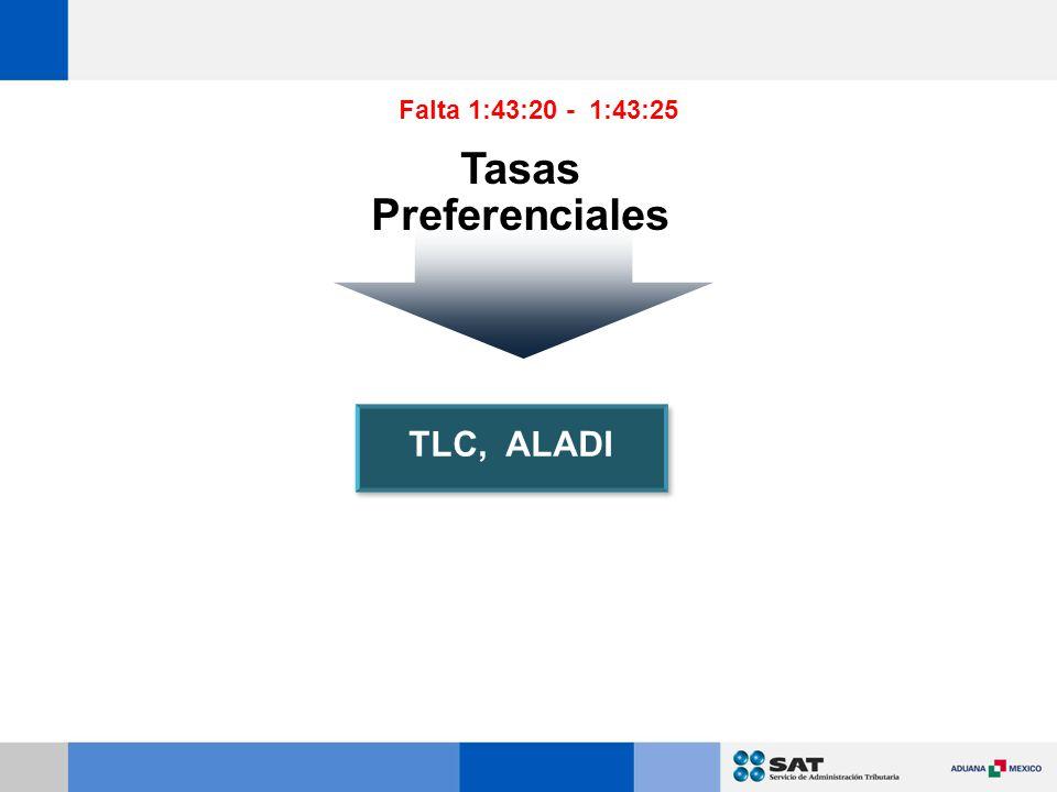 TLC, ALADI Tasas Preferenciales Falta 1:43:20 - 1:43:25