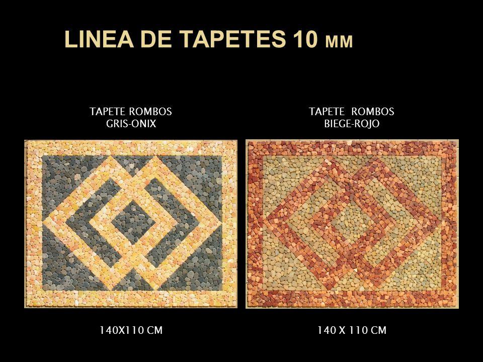 TAPETE ROMBOS GRIS-ONIX TAPETE ROMBOS BIEGE-ROJO 140X110 CM