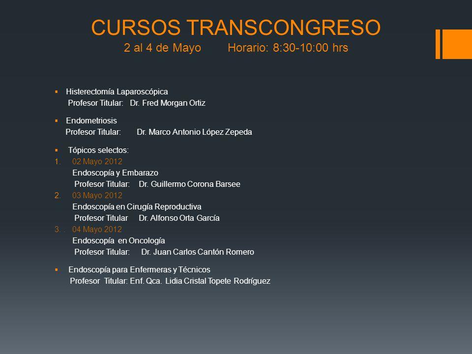 Histerectomía Laparoscópica Profesor Titular: Dr. Fred Morgan Ortiz Endometriosis Profesor Titular: Dr. Marco Antonio López Zepeda Tópicos selectos: 1