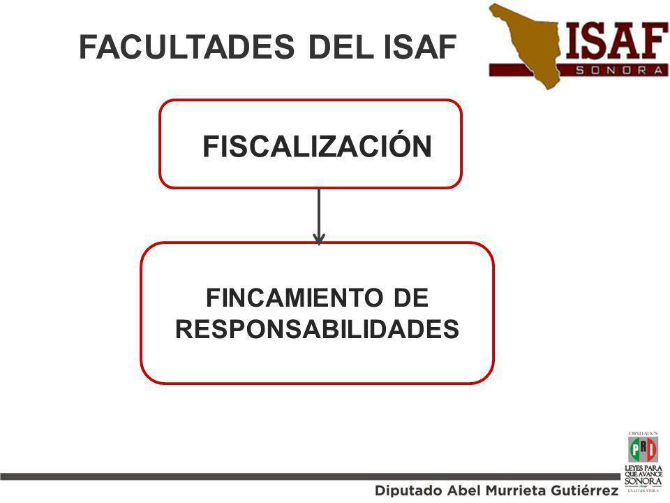 FACULTADES DEL ISAF. FINCAMIENTO DE RESPONSABILIDADES FISCALIZACIÓN