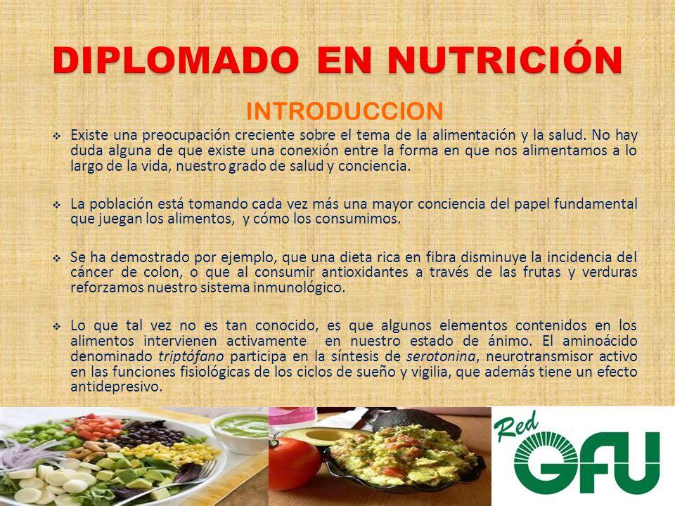 INTRODUCCION Existe una preocupación creciente sobre el tema de la alimentación y la salud.