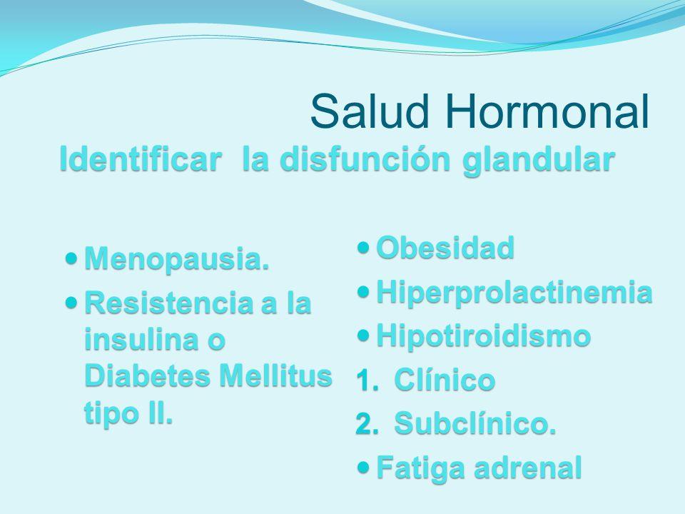 Salud hormonal Atención a la Salud Hormonal Mantenimiento del sistema hormonal utilizando hormonas bio-idénticas, nutrientes y antioxidantes en las cantidades adecuadas.