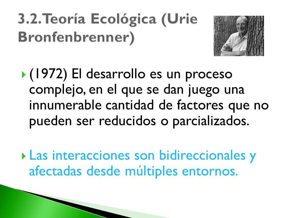 (1972) El desarrollo es un proceso complejo, en el que se dan juego una innumerable cantidad de factores que no pueden ser reducidos o parcializados.