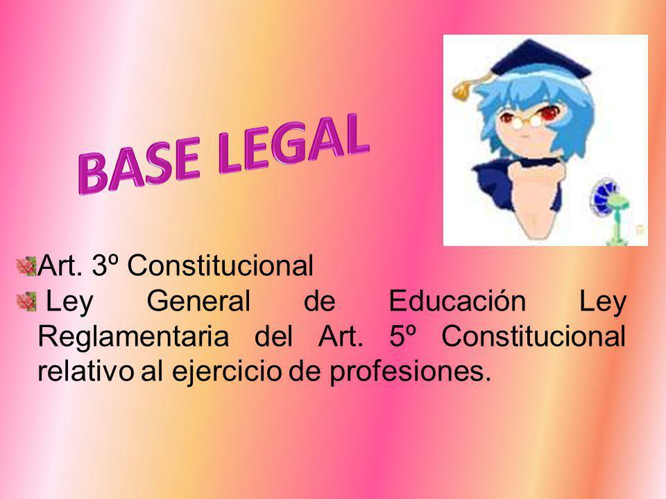 Art. 3º Constitucional Ley General de Educación Ley Reglamentaria del Art.