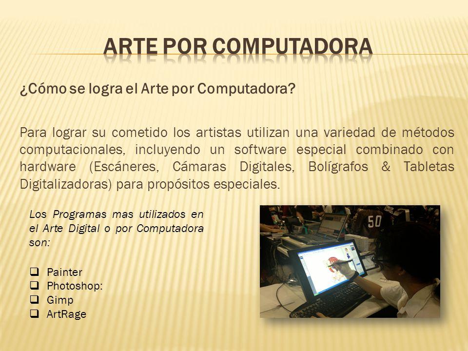 ¿Cómo se logra el Arte por Computadora.