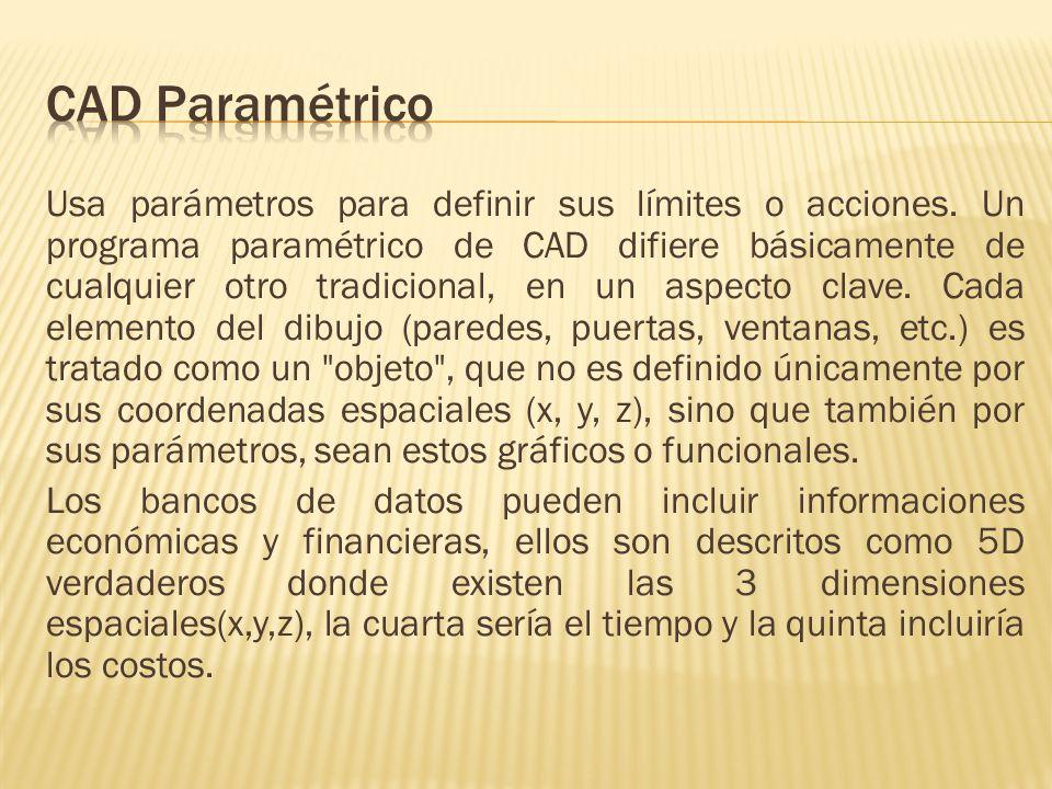 Usa parámetros para definir sus límites o acciones.
