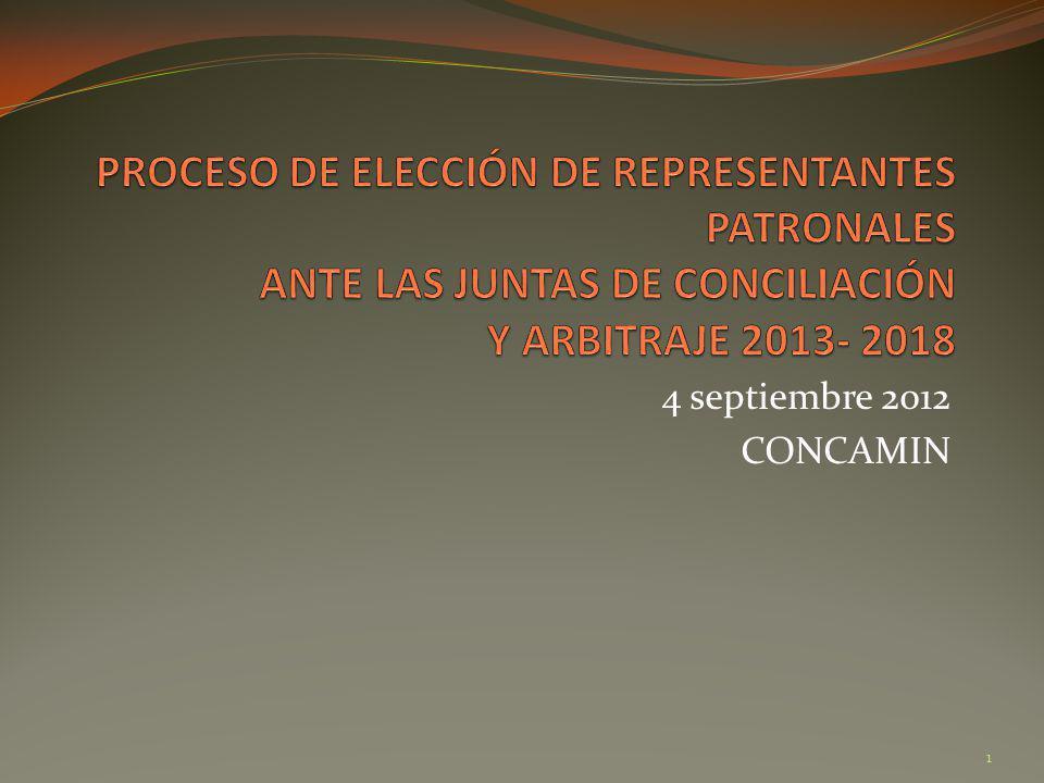 Proceso Elección Representantes Patronales 2013-2018.