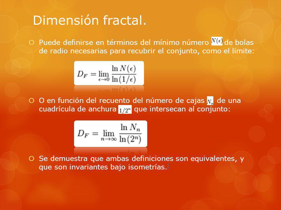Dimensión fractal.