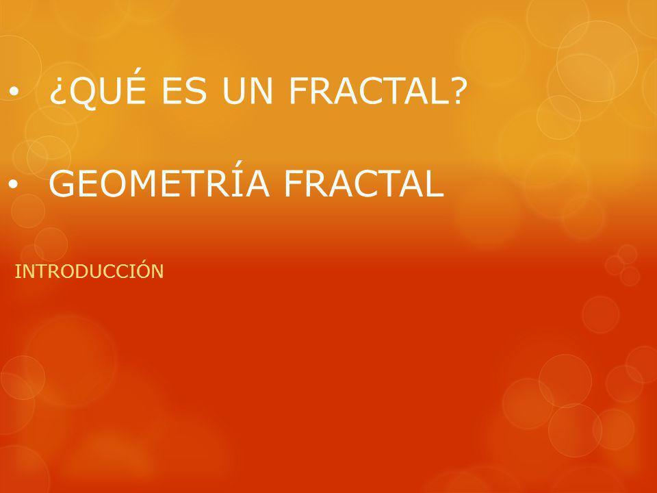 En la naturaleza no es trivial describir aquellas formas, dado que no es suficiente aplicar las propiedades euclidianas por lo que es necesario buscar una nueva manera de poder describirlas, para todo esto usamos la Geometría Fractal pero, ¿Qué es la Geometría Fractal.