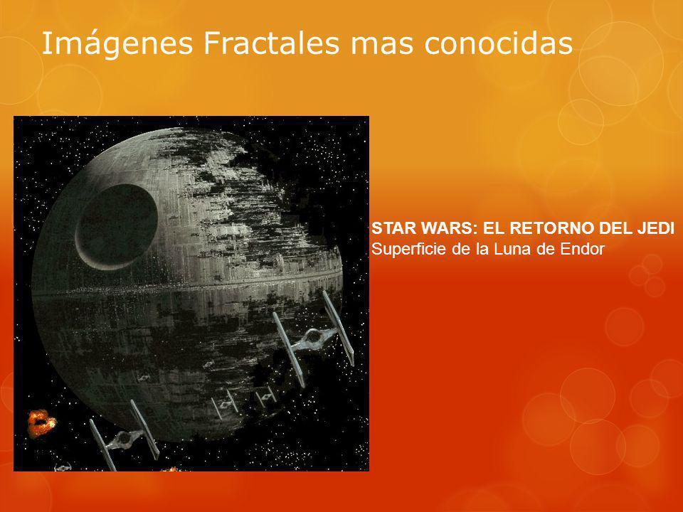 Imágenes Fractales mas conocidas STAR WARS: EL RETORNO DEL JEDI Superficie de la Luna de Endor