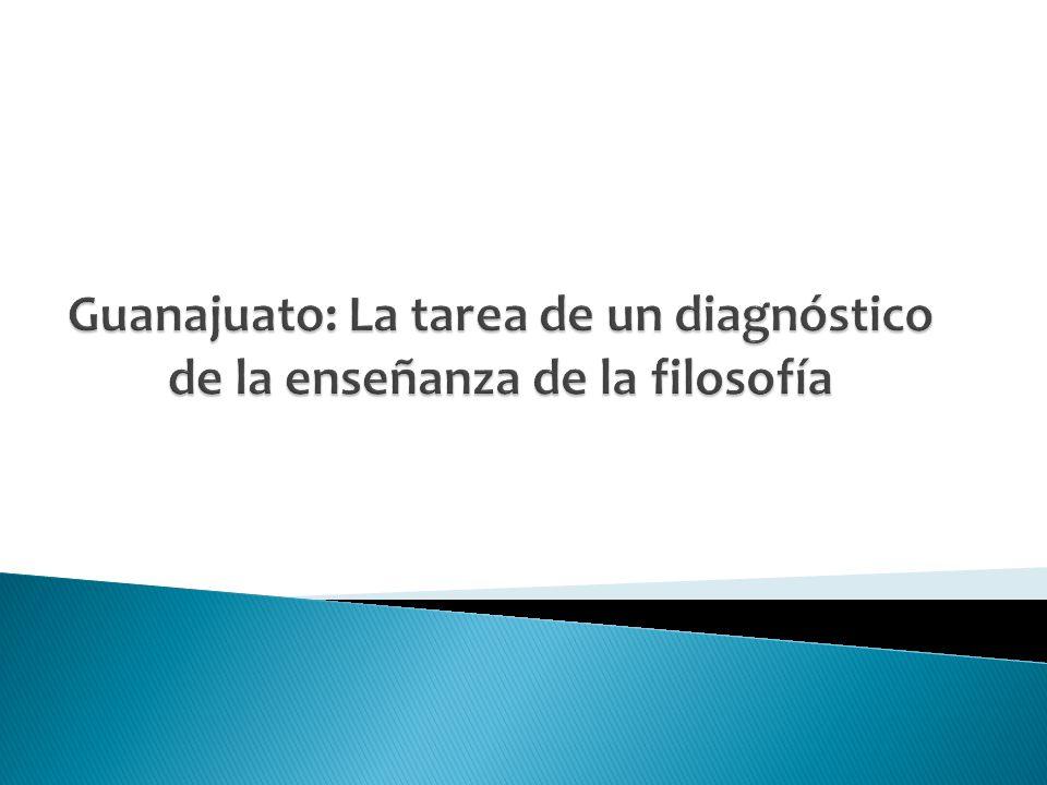Objetivo Advertir la necesidad de un diagnóstico de la enseñanza de la filosofía.