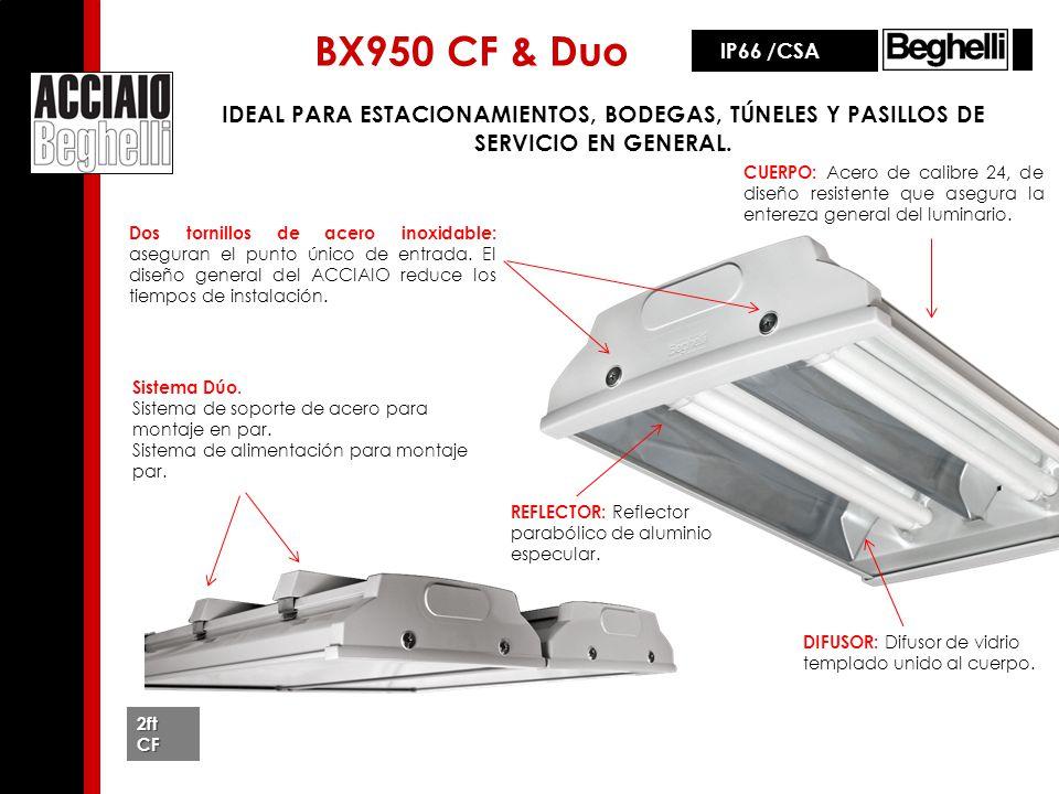 BX950 CF & Duo Sistema Dúo. Sistema de soporte de acero para montaje en par. Sistema de alimentación para montaje par. IDEAL PARA ESTACIONAMIENTOS, BO