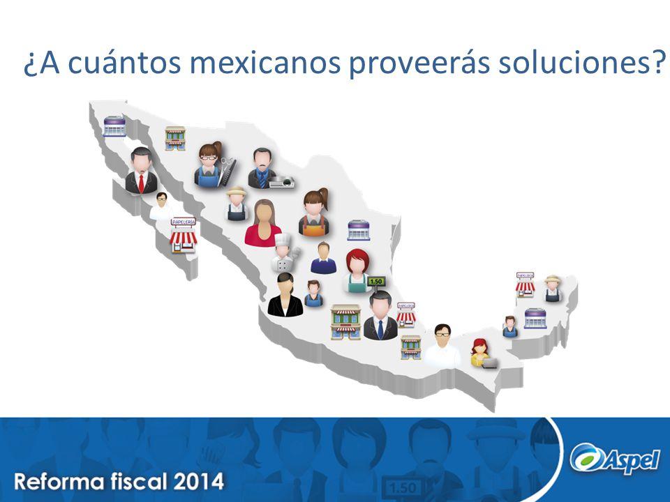 ¿A cuántos mexicanos proveerás soluciones?