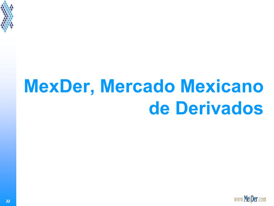 22 MexDer, Mercado Mexicano de Derivados