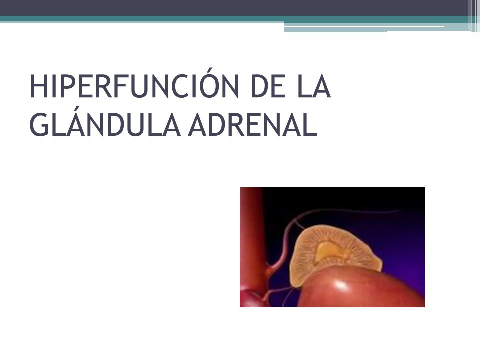 HIPERFUNCIÓN DE LA GLÁNDULA ADRENAL