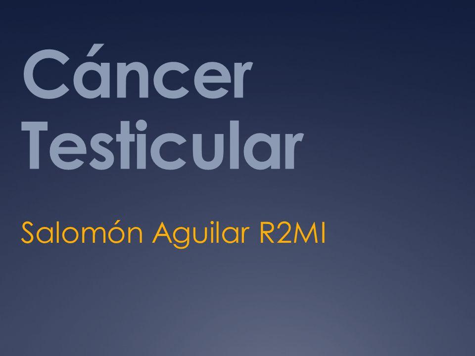 Estadificación El cáncer testicular se presenta una situación relativamente única en un tumor sólido en oncología (TNM) no es tan útil como una herramienta pronóstica, ya que incluso con enfermedad metastásica tienen una alta probabilidad de supervivencia a largo plazo.