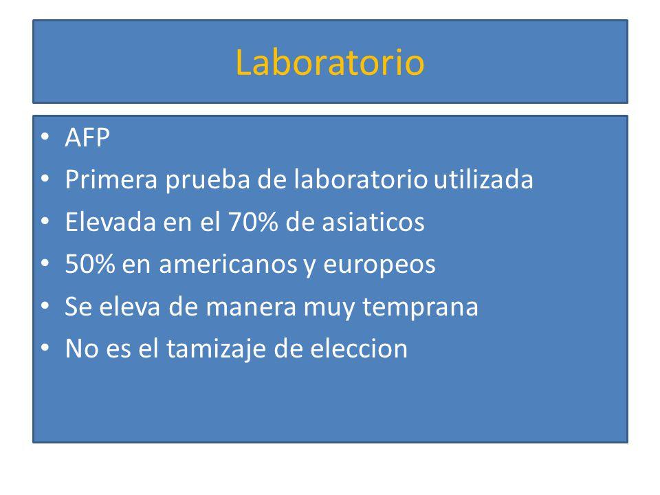 Laboratorio PIVKA-2 ( des-i-carboxy prothrombin protein induced by vitamin K abnormality) en el 80% de pacientes con HCC Elevada en pacientes con deficiencia de vitamina K