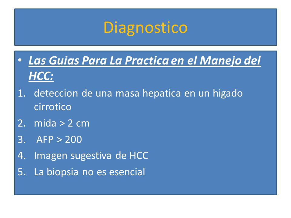 Diagnostico 6.Masas entre 1-2 cm se recomienda biopsia guiada por imagen 7.Lesiones < de 1 cm tienen baja probabilidad de ser malignas seguimiento por imagen