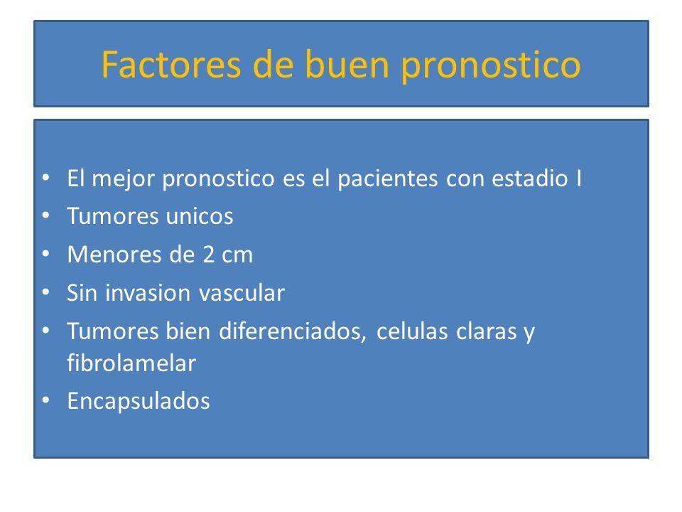 Factores de mal pronostico Tumores multiples Invasion vascular Afeccion de linfaticos