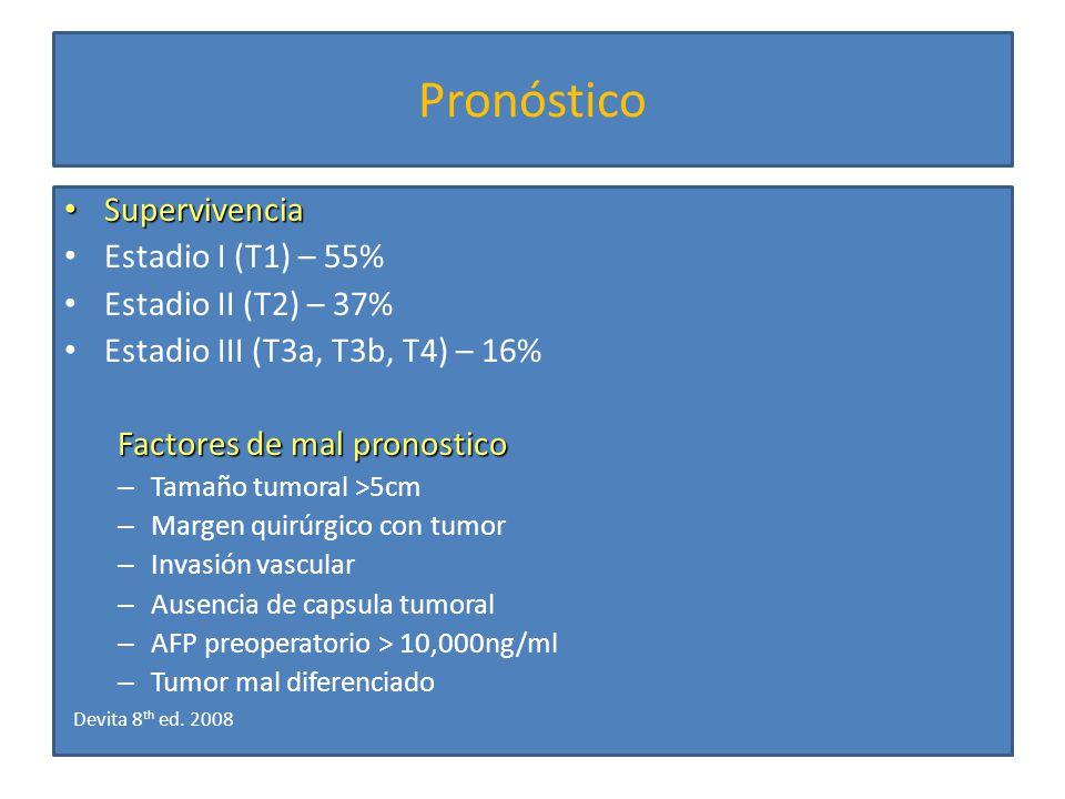 Neoadyuvancia Aun con intento curativo, la mayoria presenta recurrencias Se han evaluado: – TACE – Quimioinmunoterapia sistémica – Lipiodol intraarterial – RT + QT/TACE Han demostrado disminución en tamaño tumoral, pero sin beneficio en supervivencia Ann Surg Oncol 2000; 7:490.