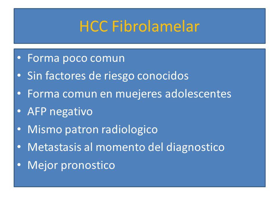 Hemangiosarcoma 2% tumores primarios de higado Relacionado con exposicion a cloruro de vinilo, arsenico Fatiga, debilidad y dolor abdominal