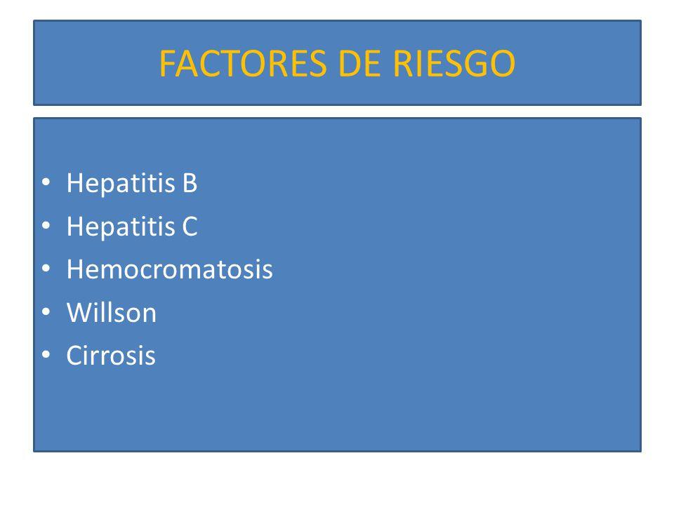 Hepatitis B La relacion entre CHC y HBV ha sido ampliamente comprobada Risk factors for hepatocellular carcinoma among patients with chronic liver disease.