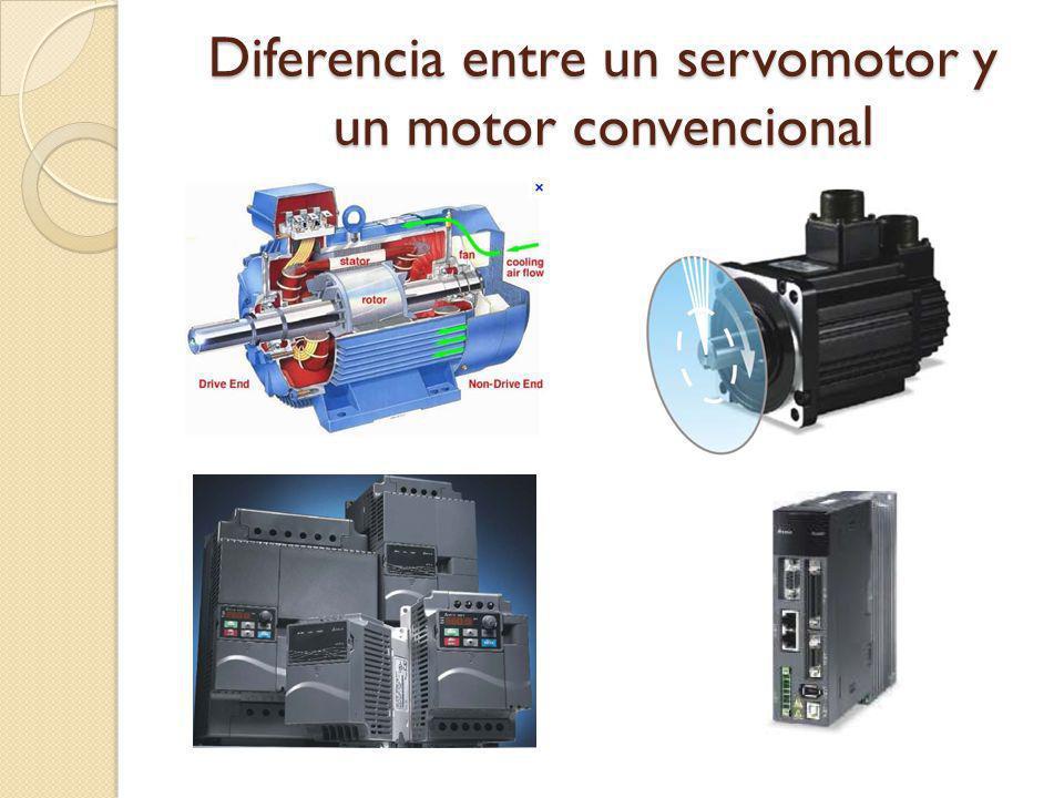 Diferencia entre un servomotor y un motor convencional