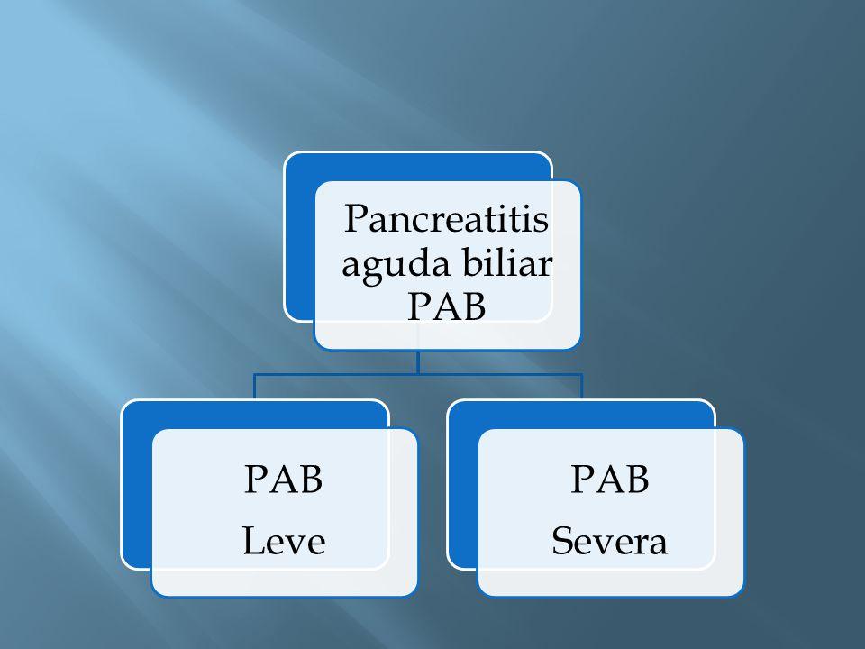 Pancreatitis aguda biliar PAB PAB Leve PAB Severa