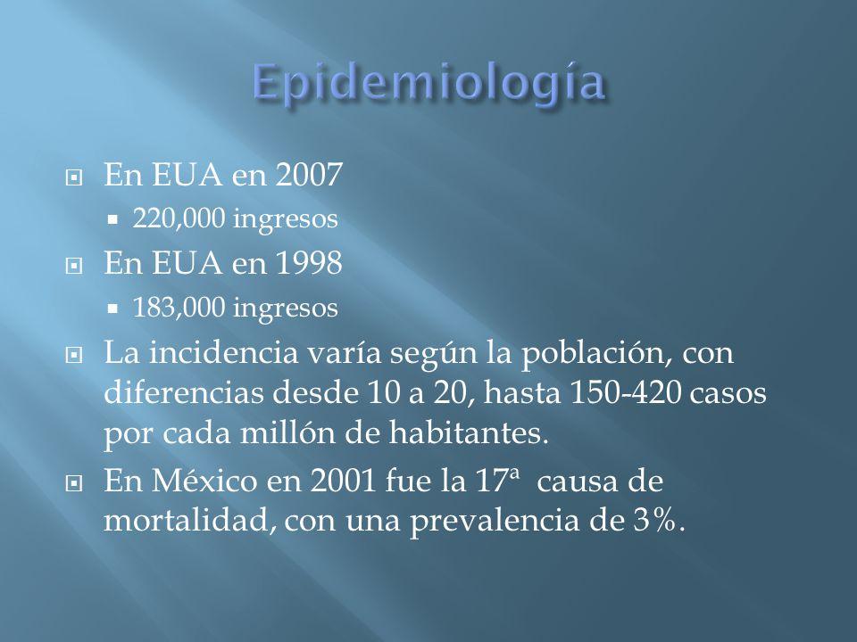 La hipocalcemia es multifactorial Atribuible a la saponificación del calcio con acidos grasos libres Hipoalbuminemia Hipomagnesemia Síndrome de respuesta inflamatoria sistémica Insuficiencia orgánica múltiple Pulmón (derrame, síndrome de dificultad respiratoria) Infección de la necrosis (9%) E.