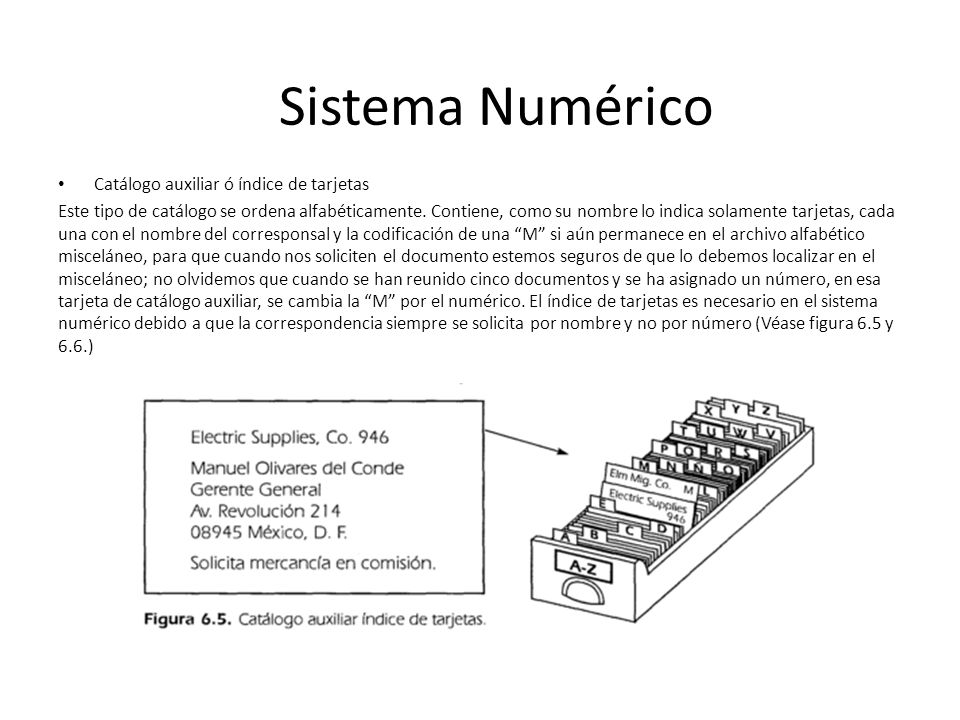 Catálogo auxiliar ó índice de tarjetas Este tipo de catálogo se ordena alfabéticamente.