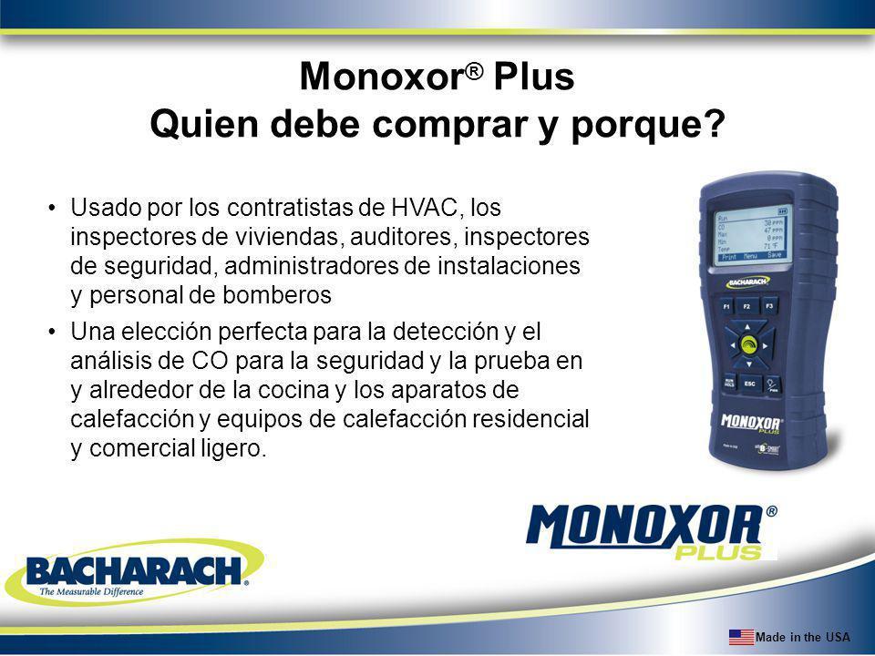 Made in the USA Usado por los contratistas de HVAC, los inspectores de viviendas, auditores, inspectores de seguridad, administradores de instalacione