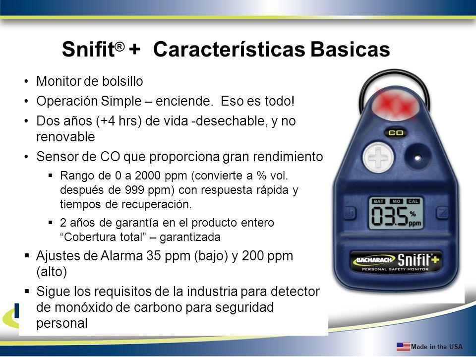 Made in the USA Monitor de bolsillo Operación Simple – enciende. Eso es todo! Dos años (+4 hrs) de vida -desechable, y no renovable Sensor de CO que p