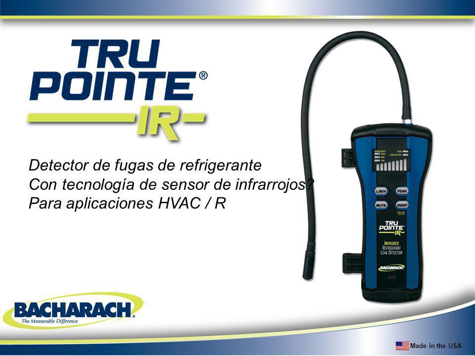 Made in the USA Detector de fugas de refrigerante Con tecnología de sensor de infrarrojos? Para aplicaciones HVAC / R