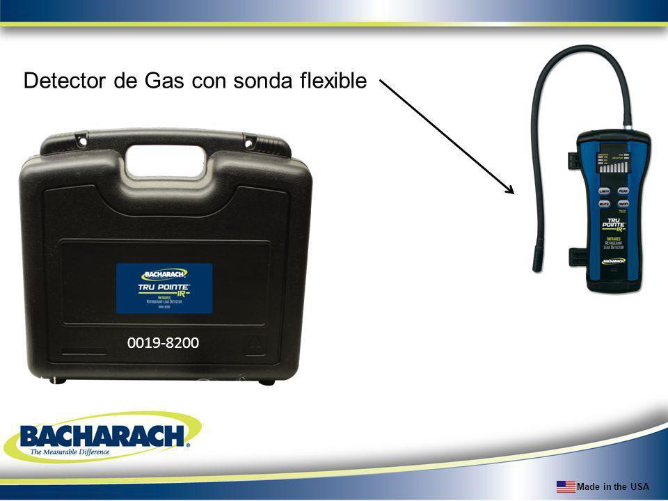 Made in the USA Detector de Gas con sonda flexible 0019-8200