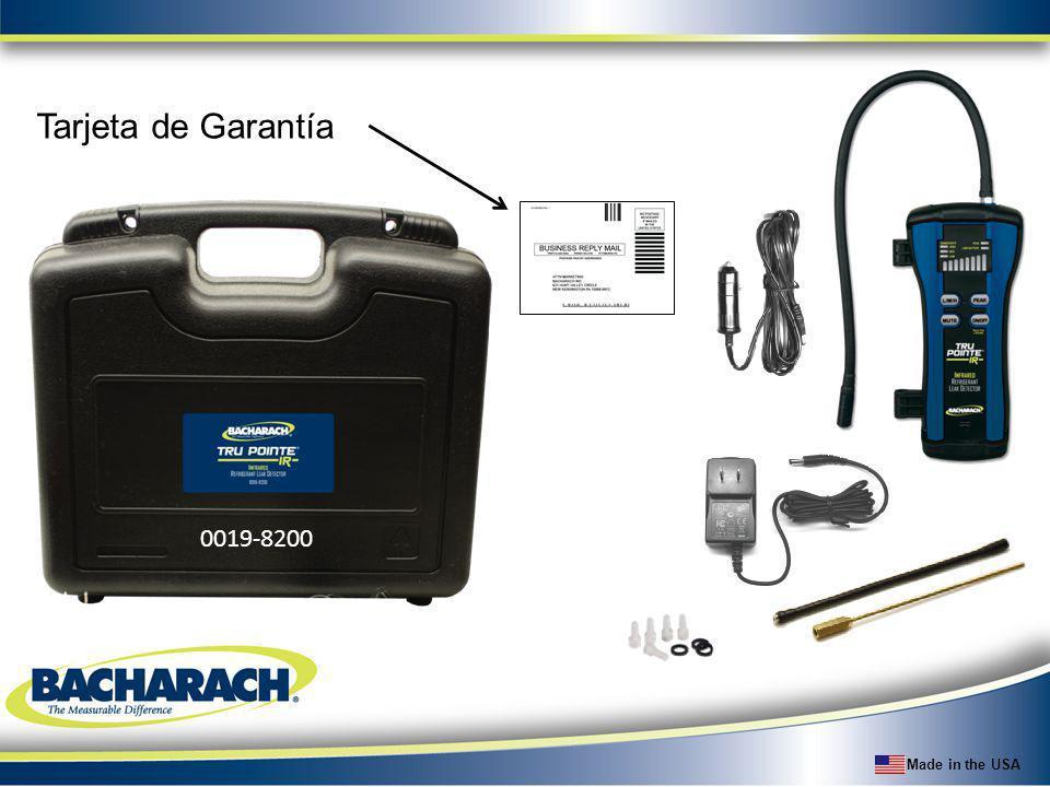 Made in the USA Tarjeta de Garantía 0019-8200