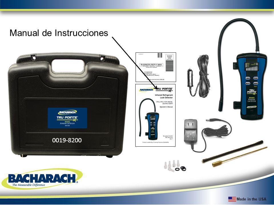 Made in the USA Manual de Instrucciones 0019-8200