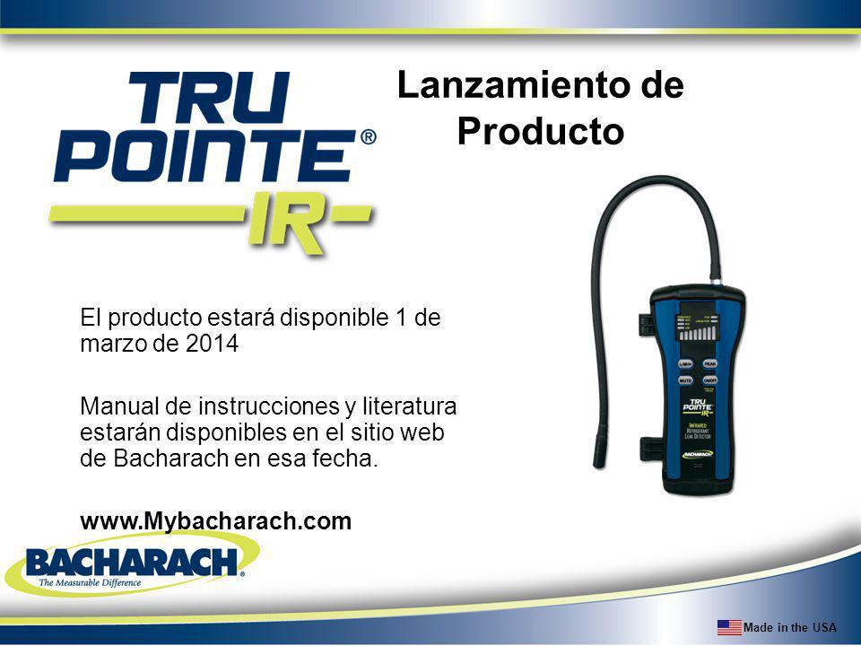 Made in the USA Lanzamiento de Producto El producto estará disponible 1 de marzo de 2014 Manual de instrucciones y literatura estarán disponibles en e
