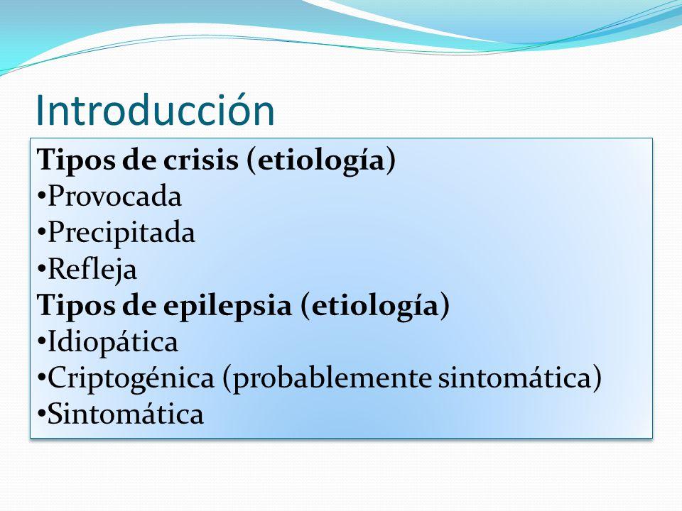 Introducción Epilepsia: trastorno en el que una persona tiene convulsiones recurrentes debido a un proceso crónico subyacente.