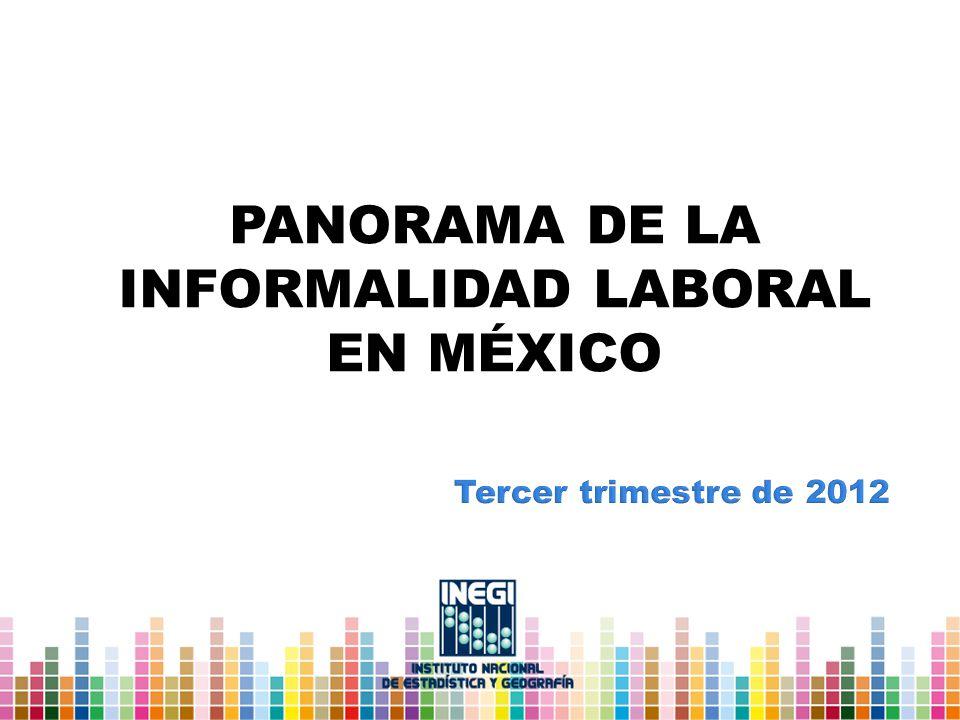 PANORAMA DE LA INFORMALIDAD LABORAL EN MÉXICO