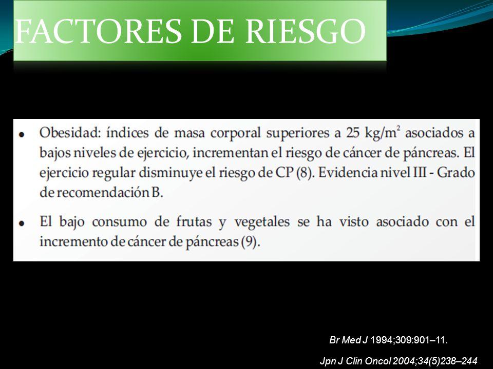 Jpn J Clin Oncol 2004;34(5)238–244 Br Med J 1994;309:901–11.