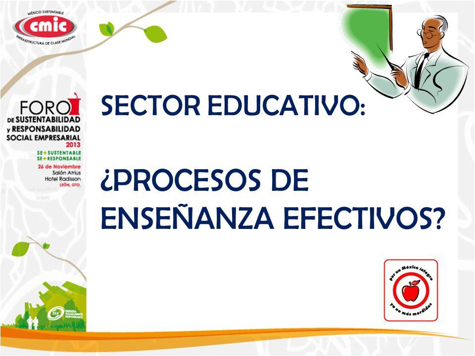 SECTOR EDUCATIVO: ¿PROCESOS DE ENSEÑANZA EFECTIVOS