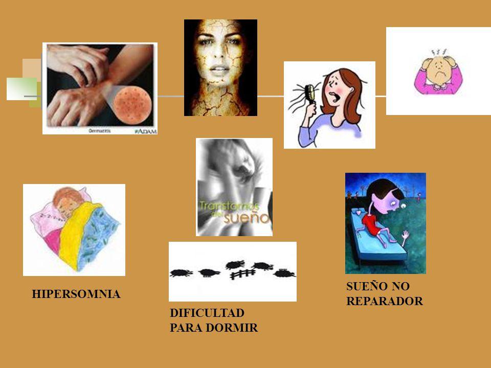 SUEÑO NO REPARADOR HIPERSOMNIA DIFICULTAD PARA DORMIR