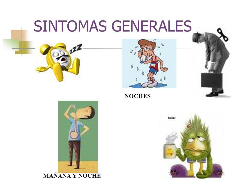 SINTOMAS GENERALES MAÑANA Y NOCHE NOCHES