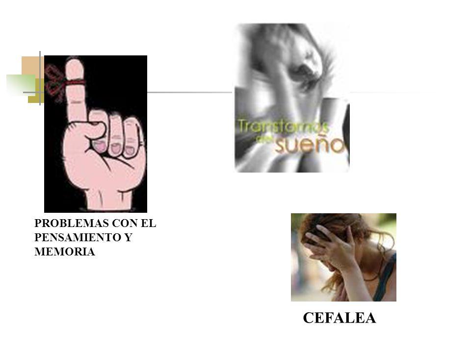 PROBLEMAS CON EL PENSAMIENTO Y MEMORIA CEFALEA