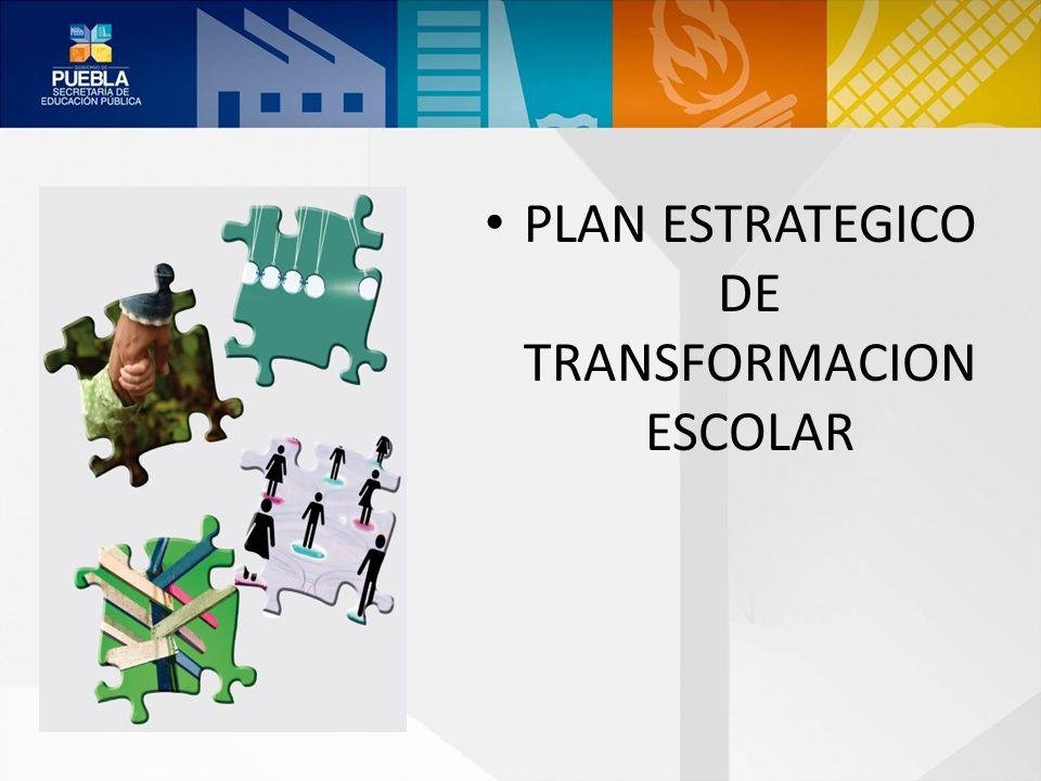 PLAN ESTRATEGICO DE TRANSFORMACION ESCOLAR