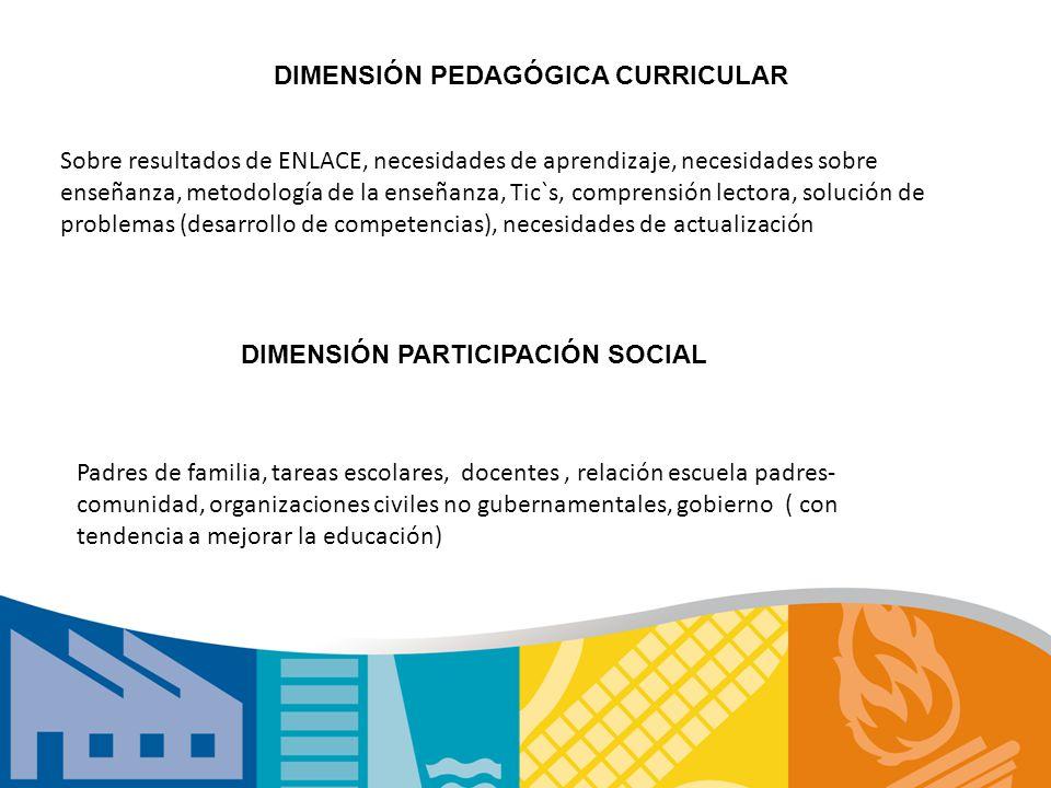 DIMENSIÓN: OBJETIVOMETAS INDICADORESESTRATEGIAS CICLO ESCOLAR 2011-2012 2012-2013 2013-2014 2014-2015 2015-2016 2016-2017